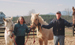Owners Babs and Bob Strickland with horses in Walnut Creek Preserve